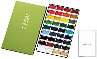 Kuretake MC2036V Gansai Tambi 36 色套装,5 张柱卡,索引卡,4 x 6 白色超值套装