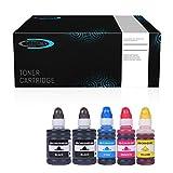 5X Tintenbehälter von CLEOTONER ersetzt GI50 Multipack 2X BK je 1x CMY für Canon Pixma G6050 G7050