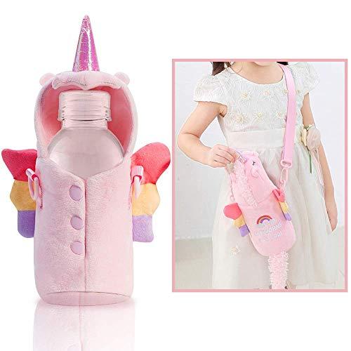 Onebttl Eenhoorn Geschenken voor meisjes, Waterflesdrager/Houder/Tas, met verstelbare schouderriem, passend roestvrij staal en plastic flessen, voor peuters, kinderen en volwassenen, flessen uitgesloten, 1 pak