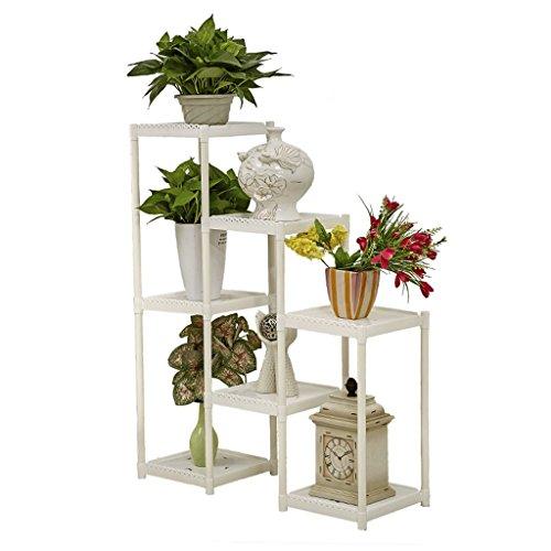 Étagère de fleur en plastique de combinaison créative de Multi-couche, type de plancher de Multi-Layer, balcon de balcon d'intérieur de salle de séjour de balcon, 80 * 28.5 * 100cm