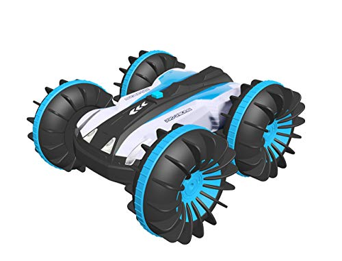 Remote Control Car for Boys Gifts - Outdoor 2.4GHz Land Water Boat Truck All Terrain RC Stunt Car with Rotate 360 Electric Vehicle Toy Age 4-12 Year Old Girl Boy Cool Summer Gift