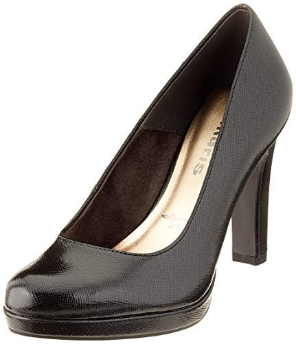 Tamaris Damen 1-1-22426-23 230 Plateaupumps, Grau (ANTHRA.PAT.STR 230), 39 EU