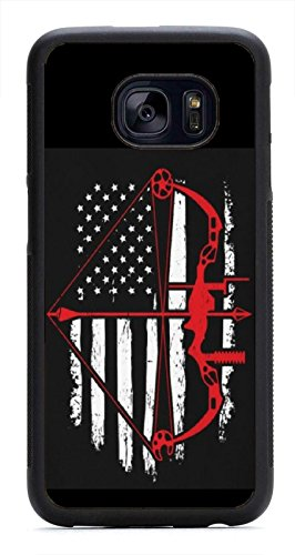 Rhino Armour Slim - Ultra Premium Case -Bow Hunting US Flag for Samsung Galaxy S7 (5.1 inch), Made & Printed in The USA