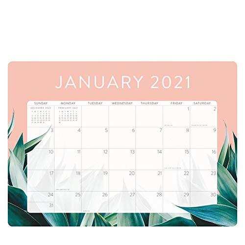 Calendario de Escritorio 2021, Calendario 2021, Va Desde Enero de 2021 A Diciembre de 2021 para Escribir Y Apuntar 47.6Cm X 34Cm