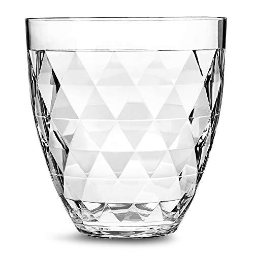 bar@drinkstuff Glacier-Deluxe-Champagner-Eimer, Sektkühler, aus Acryl.