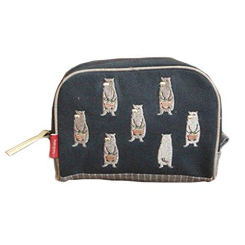 dessin anim?broderie ours sac ?cosmétiques grand sac ?main bleu