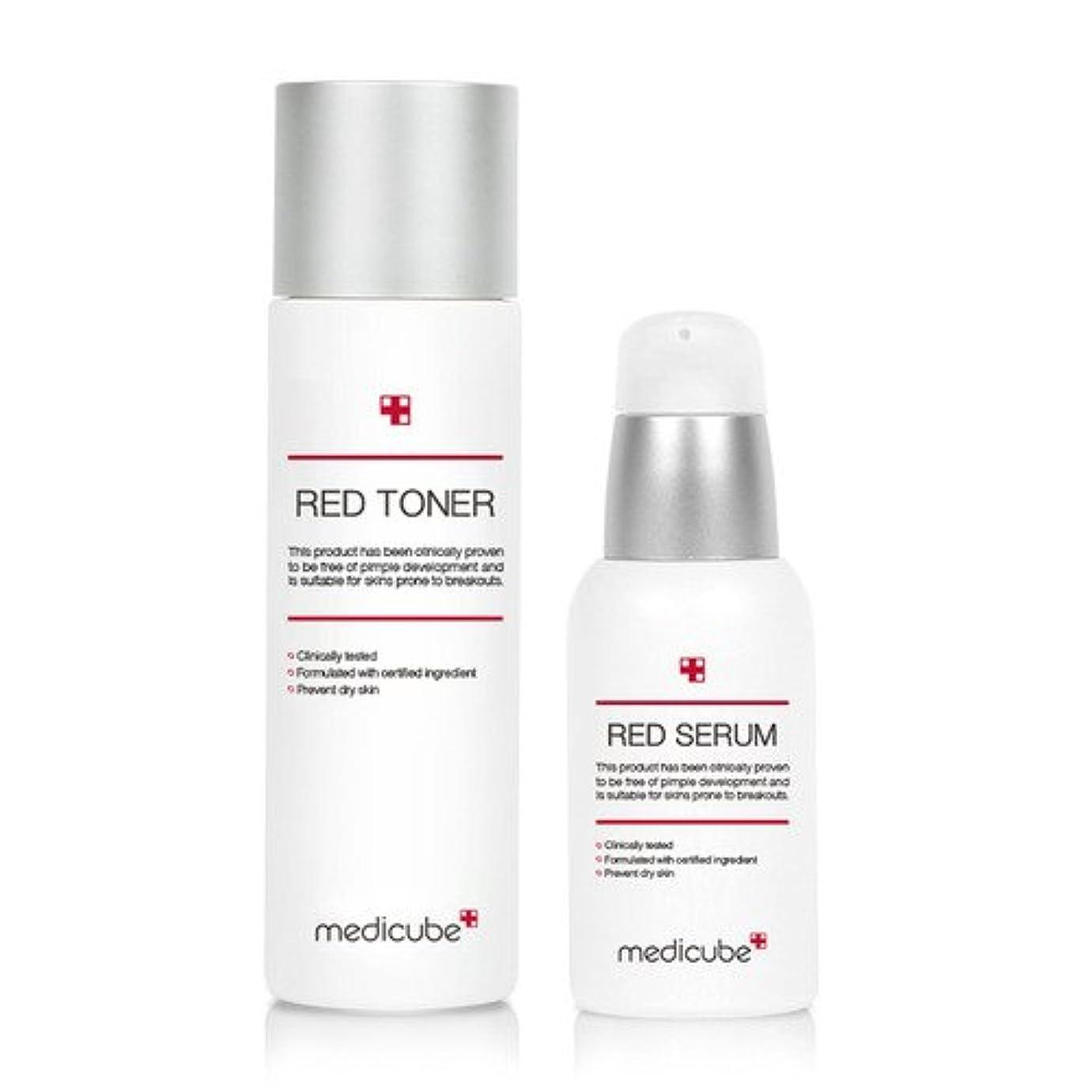 唯物論置くためにパック羽[Medicube メディキューブ] レッドライントナー(100ml)&セラム(50ml)セット/ Red Line Toner & Serum SET [並行輸入品]