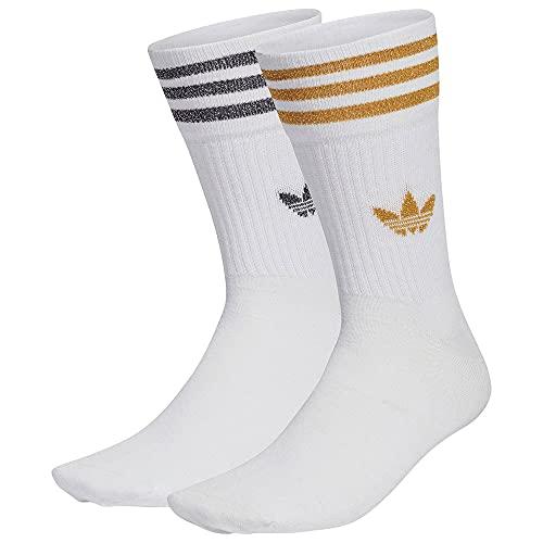 adidas Mid Cut GLT SCK Socks, Women's, White/Black/Victory...