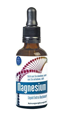 WellZell® homöopathische Schwingungsessenz Magnesium, extra hochdosierte Liquid Tropfen
