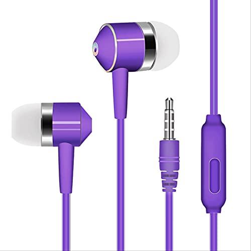 Auriculares Intrauditivos Controlados Por Cable Con Micrófono. El Auricular Con Micrófono Y Botones Multifunción Es Compatible Con Teléfonos Inteligentes, Reproductores De Mp3 Y Otros Dispositivos Con