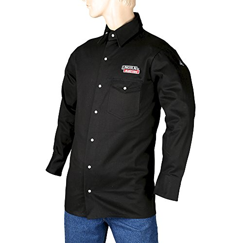 Lincoln Electric Black Large Flame-Resistant Cloth Welding Shirt