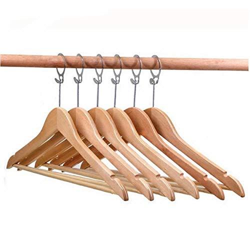 5PC Anti-diefstal Hout Hotel Pak Hanger, Hanger Hanger Hout Met Beveiliging Ring Haak Decoratie
