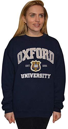 Oxford University OU201 - Sudadera unisex, color azul marino Azul azul marino S