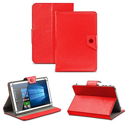 NAUC Tablet Schutzhülle für Odys Score Plus 3G Universal Tablettasche Tasche Hülle Standfunktion Cover Hülle, Farben:Rot