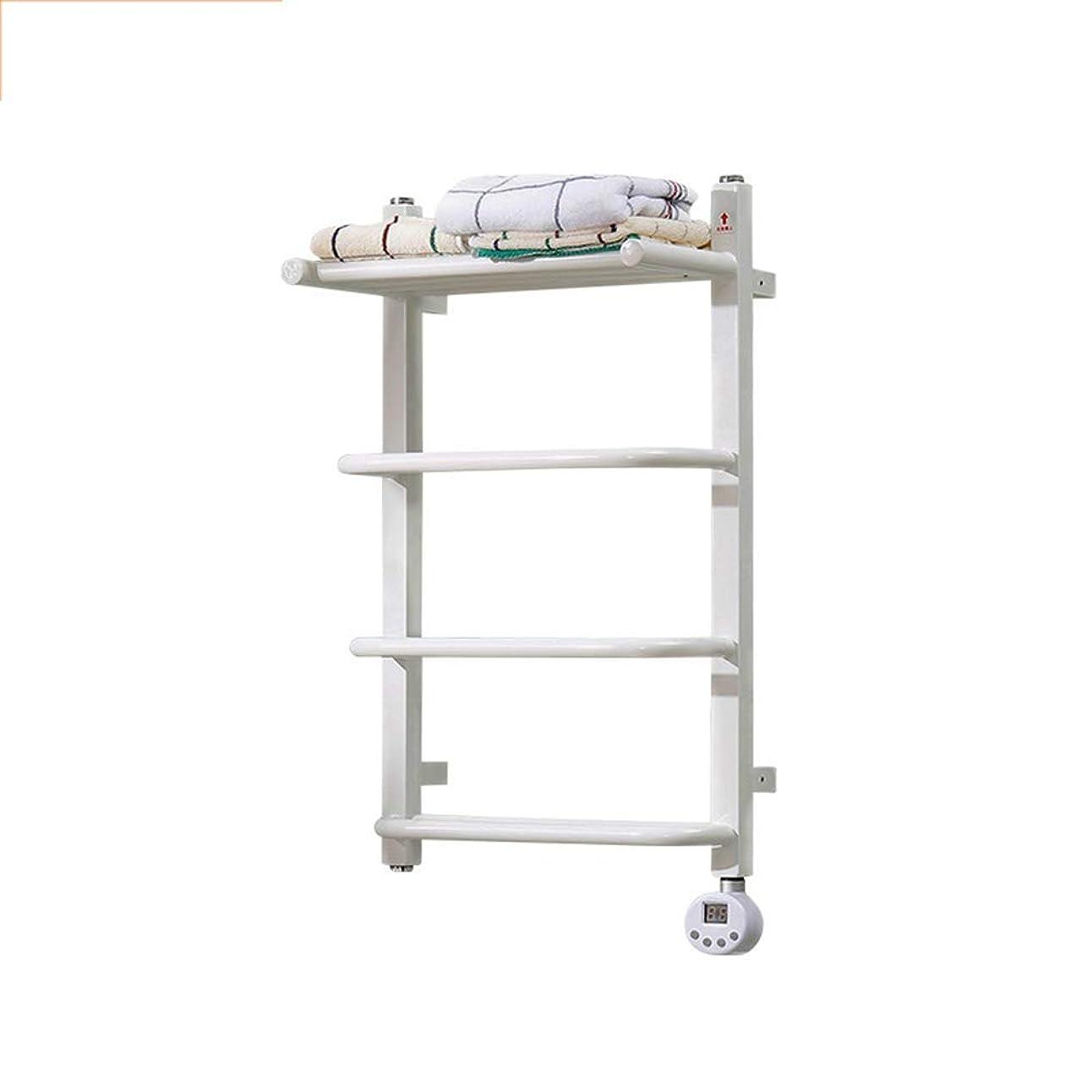 吹きさらし衛星花火Heated Towel Rail Radiator, Towel Heater Rapid Heating and Drying White Intelligent Electric Heated Towel Warmer for Bathroom