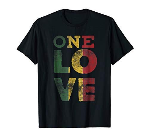 One Love T Shirt Rasta Reggae Men Women Kids Gift Tee Shirts