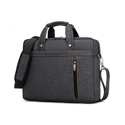 KLFD Protective Tablet Laptop Shoulder Bag with Adjustable Shoulder Strap & Multiple Compartments Premium Water Resistant Travel Briefcase Bag Office Lightweight Messenger Bag,Black,15 inches