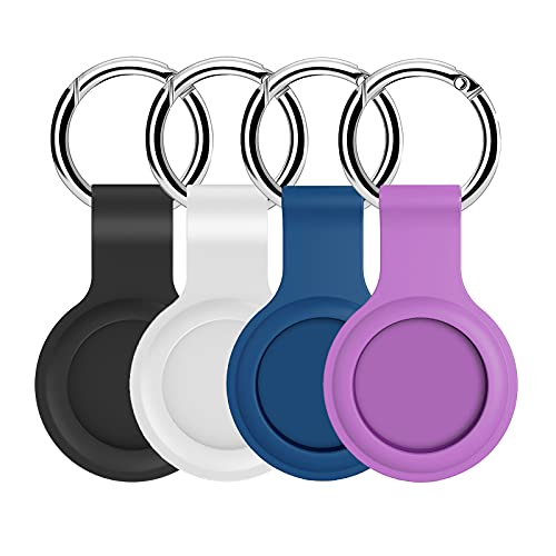 Case Compatible for AirTag Air Tag Holder Cover Keychain Accessory Compatible with Apple Finder...
