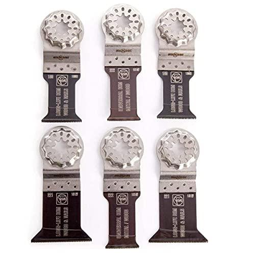 FEIN 35222952300 Starlock E-Cut Wood/Metal Multi-Tool Blade Set-6 Piece