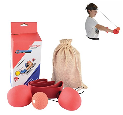 Ballon de vitesse Grofitness Punching ball pour entra/înement de MMA Double extr/émit/é En cuir synth/étique