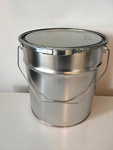 Weißblecheimer Metalleimer konisch 5 Liter/kg R/A, Gefahrgut tauglich, verzinntes Stahlblech mit Deckel und Spannring