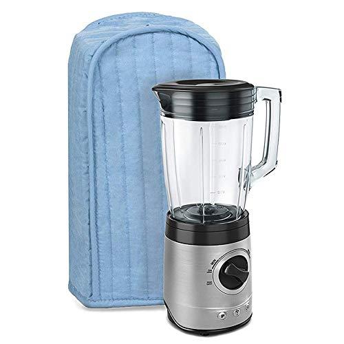 winnerruby Funda para licuadora, de poliéster/algodón Acolchado, a Prueba de Polvo y antihuellas, Lavable a máquina, Color Azul Claro/Negro