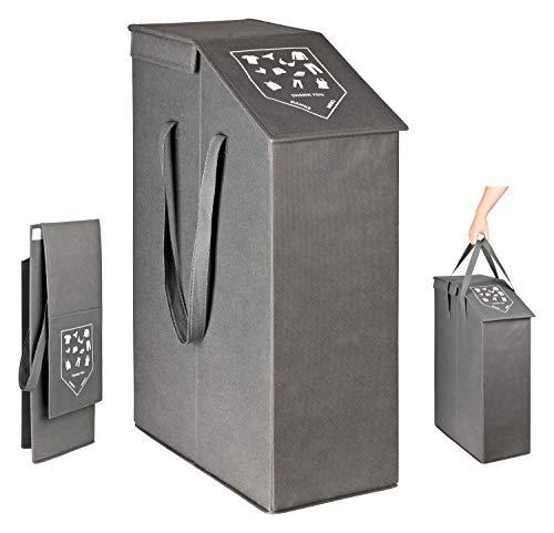 TOPP4u - Cesto para la colada con tapa (52 L, 20 x 45 x 60 cm), color gris