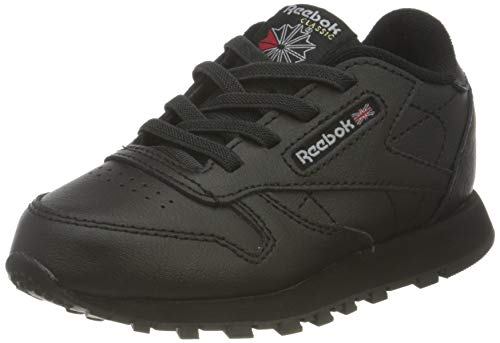Reebok Classic Leather, Zapatillas Unisex bebé, Core Black Core Black Core Black Core Black, 25.5 EU