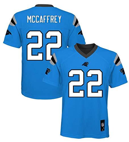 Christian McCaffrey Carolina Panthers NFL Youth 8-20 Aqua Blue Alternate Mid-Tier Jersey (Youth Large 14-16)