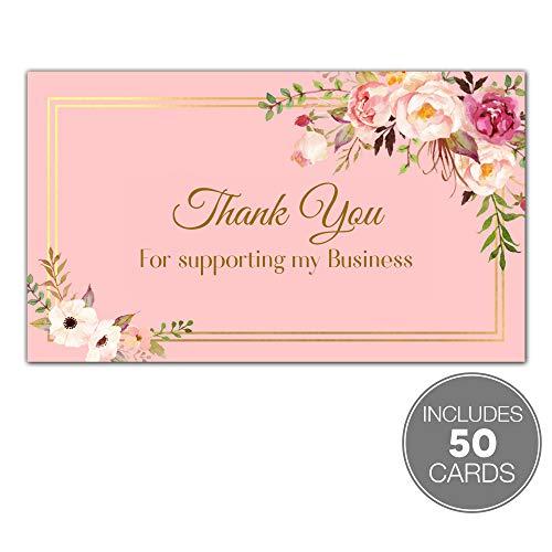 Husbe-50 Stück Dankeschön für meine Visitenkarten, 5,1 x 8,9 cm, Visitenkartengröße, Paketeinlage, Wertschätzungskarten