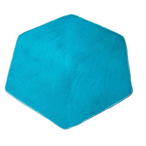 USDREAM Hexagonal Rug Pad Soft Home Carpet Ground Mat for Hexagon Princess Castle Kids Play Tent, 120 x 140cm (Blue Cushion)