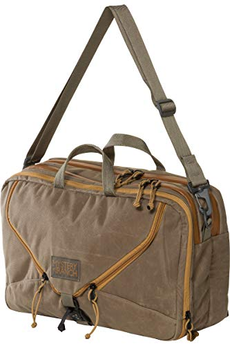 MYSTERY RANCH 3 Way Briefcase - Carry as Tote, Backpack and Shoulder Bag, Waxed Wood, 22L