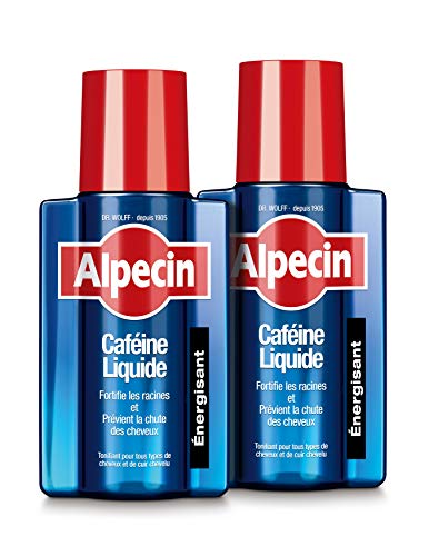 Alpecin Caféine Liquide Lotion cheveux homme 2x 200ml   Traitement anti chute de cheveux homme   Perte de cheveux traitement calvitie   Renforcement d