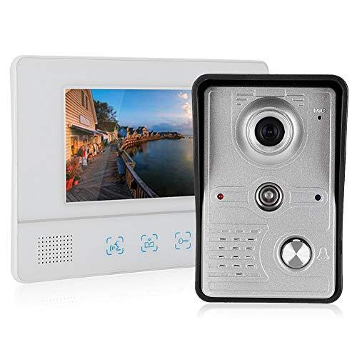7 inch TFT LCD video-intercom deurbel, nachtzicht deurtelefoon met TFT touchscreen, video deurbel telefoon voor familie appartementen en kantoorgebouw(EU)