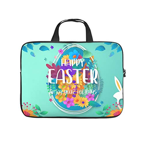 Spring Flowers Easter Double Sided Printed Laptop Bag Protective Case Waterproof Neoprene Laptop Bag Case Cover Personalized Tablet Bag Sleeve Case for Laptop