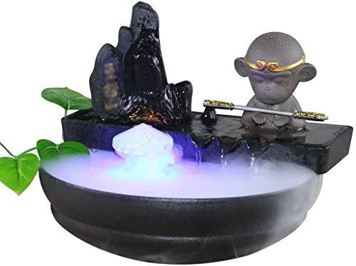 ZKDY Fuente Interior de cerámica Fuente Decorativa Sala Oficina de Escritorio con la Fuente d humidificador Escritorio Fuente Interior