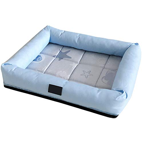 J Dog large summer heat dissipation pet bed, removable and washable, large L (75 * 60 * 7CM) non-slip bottom | appease pet bed
