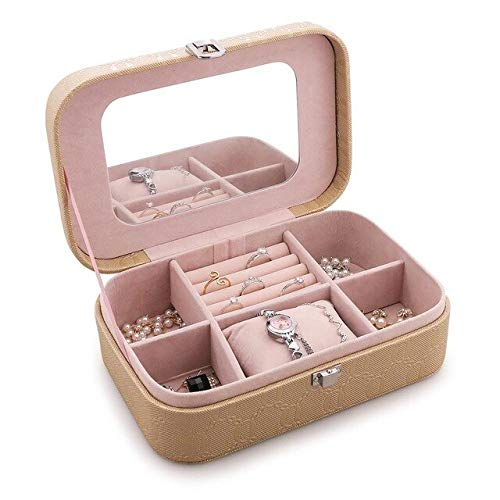 Sac cosmétique Bijoux de mode Sac cosmétique Portable antipoussière grande capacité Ornements Organisateur Boîte Femme Kit de Maquillage Maquillage Sac I