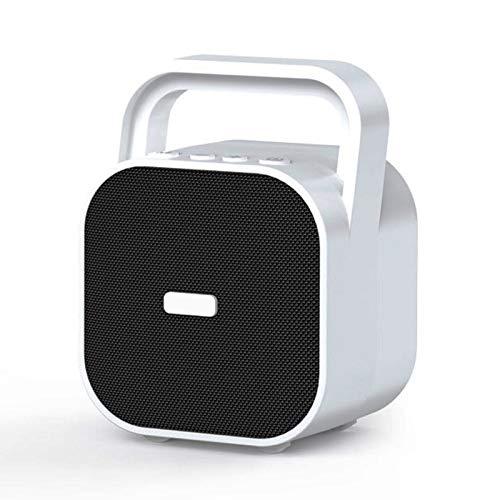 PPBB 15w Audio de Alta Potencia al Aire Libre pequeño Altavoz Bluetooth portátil portátil con sobrepeso subwoofer hogar Gran Volumen 3D Tarjeta de Efecto Envolvente Reproductor de Disco U,Blanco