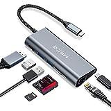 MECO ELEVERDE USB C Hub, Type C Adapter mit 100W Power Delivery&Daten USB-C Port, RJ45 Gigabit...