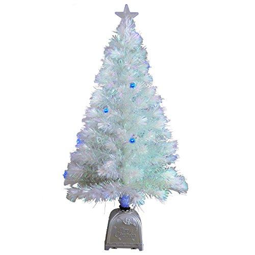 ブルーLED ファイバークリスマスツリー【幻想的なイルミネーション】 サイズ:高さ 60cm(クリスマスツリー 60 クリスマスイルミネーションled クリスマスツリー led クリスマスツリー ホワイト ファイバーツリー クリスマスツリー 卓上)