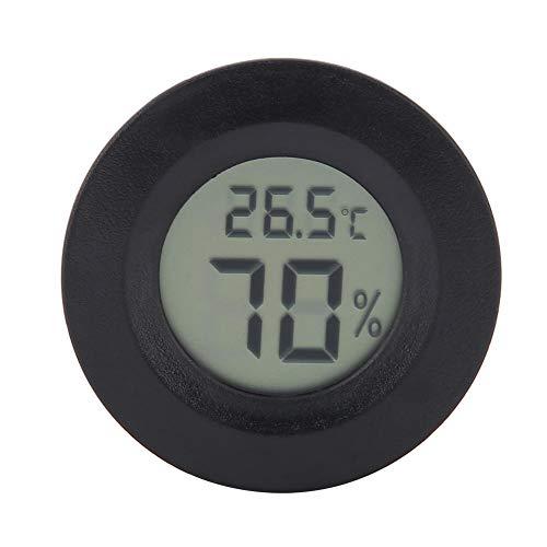 Reptilien Thermometer und Hygrometer Digital Reptile Thermometer LCD Temperatur Feuchtemessgerät mit großem LCD Display für Terrarium Reptilienbecken Terrarien Inkubatoren(Schwarzes)