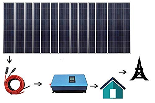 ECO LLC 1800W Home Grid Tie Solar Kit 12pcs...