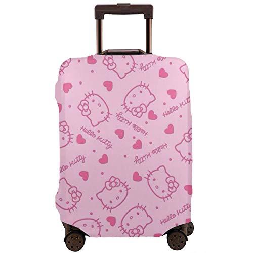 Funda para Equipaje de Viaje, Color Rosa, diseño de Hello Kitty, para Maleta, Lavable, Fundas de Equipaje de 18 a 32 Pulgadas