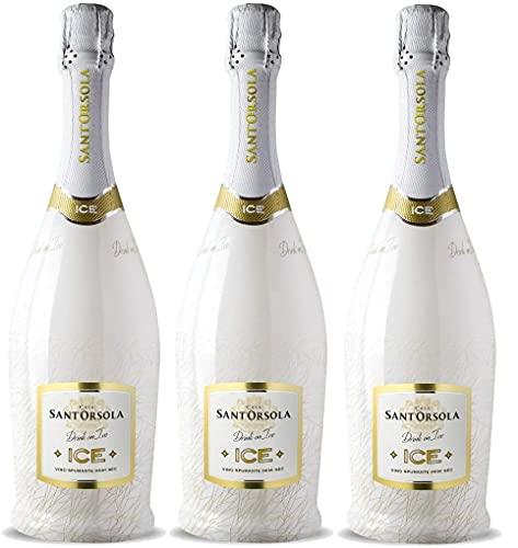 Zeus Party e Spumanti Sant' Orsola Drink on Ice Vino Spumante Demi Sec Bottiglie da 750ml Alc. 11%