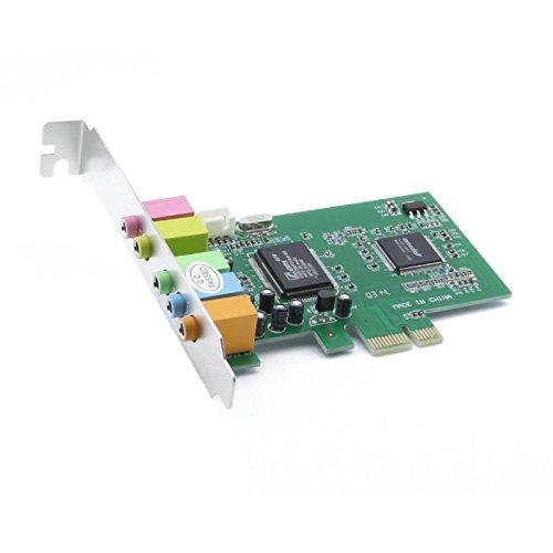 axGear PCI Express PCI-E 5.1 Ch 6 Channel PCIE Audio Digital Sound Card Adapter New