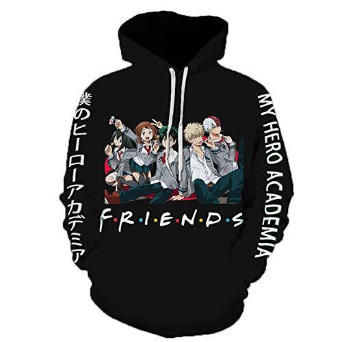 XSKJY My Hero Academia Hoodie Boku Anime hoodie Pullover Sweatshirt For Women And Men Cosplay Costume