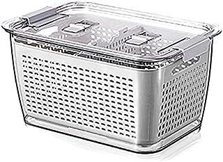 Queta Boîte de Conservation des fruits et légumes pour réfrigérateur, Bac Alimentaire Fraicheur, Box de Rangement Empilabl...