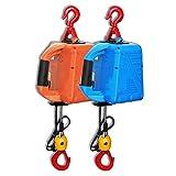 WUK Polipasto eléctrico de 1500 W, molinete de cabrestante eléctrico de 220 V con Control Remoto inalámbrico, polipasto de elevación portátil 100/200/300/500 KG polipasto eléctrico