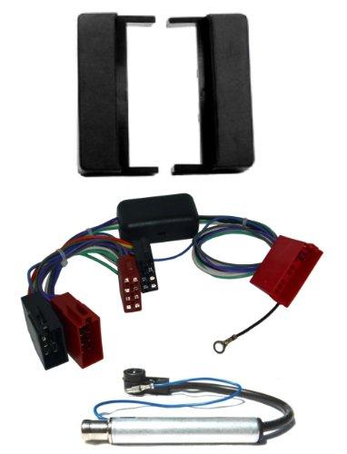 Watermark Vertriebs GmbH & Co. KG #6151S1# RADIO-EINBAUSET (Blende + Aktivsystem-Adapter + Antennenadapter) für AUDI A6 C5 4B Avant